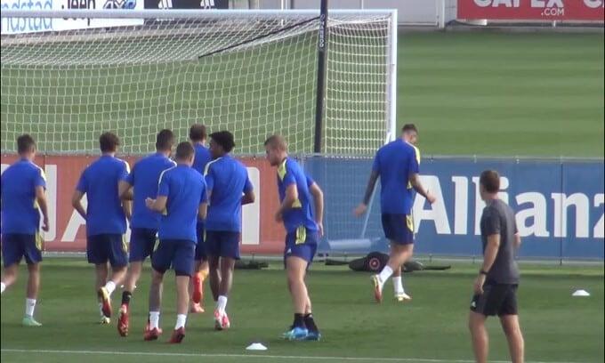 Juve, allenamento verso il Chelsea: McKennie corre a vuoto