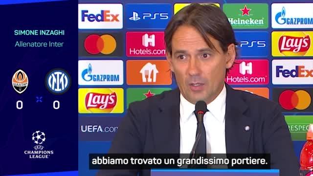 """Inzaghi dopo il pari con lo Shakhtar: """"Risultato strano. Girone equilibrato"""""""