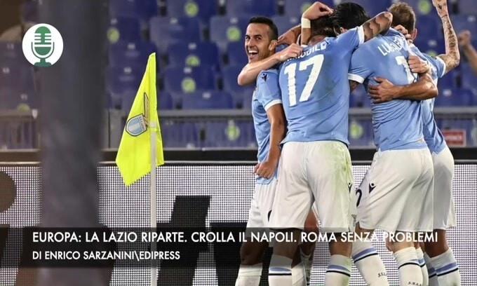 Europa: la Lazio si rilancia. Il Napoli si ferma. La Roma senza problemi