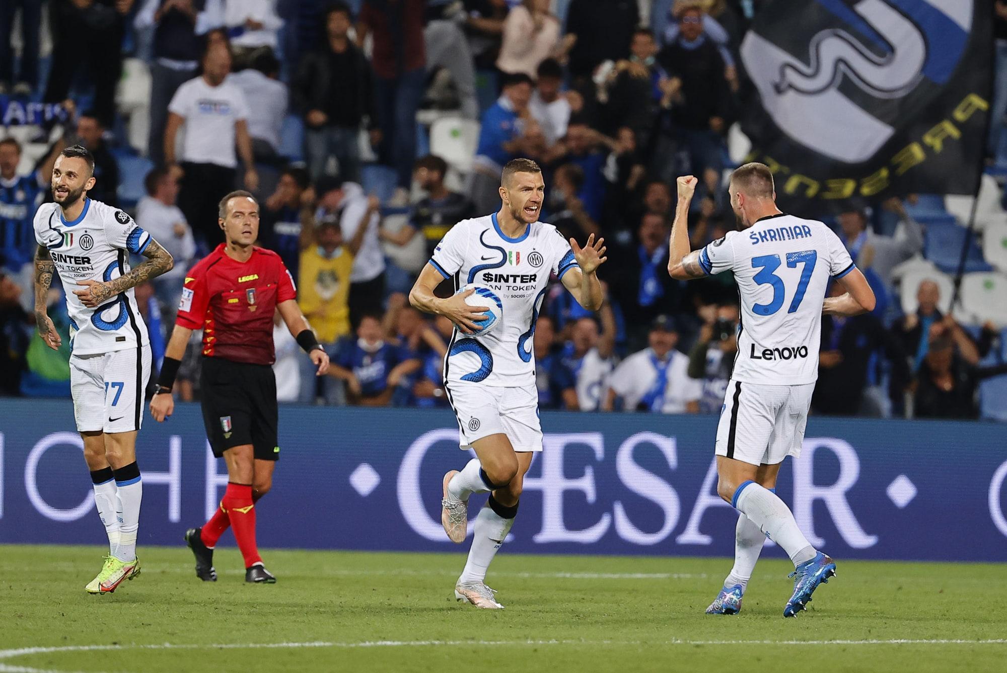 Dzeko show trascina l'Inter alla rimonta: Sassuolo battuto 2-1