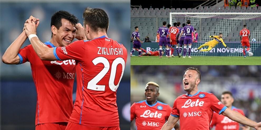 Il Napoli non si ferma più: Lozano e Rrahmani stendono la Fiorentina