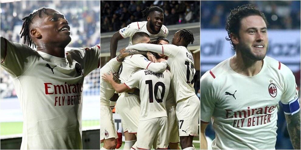 Il Milan rischia ma batte l'Atalanta: 3-2 al Gewiss Stadium