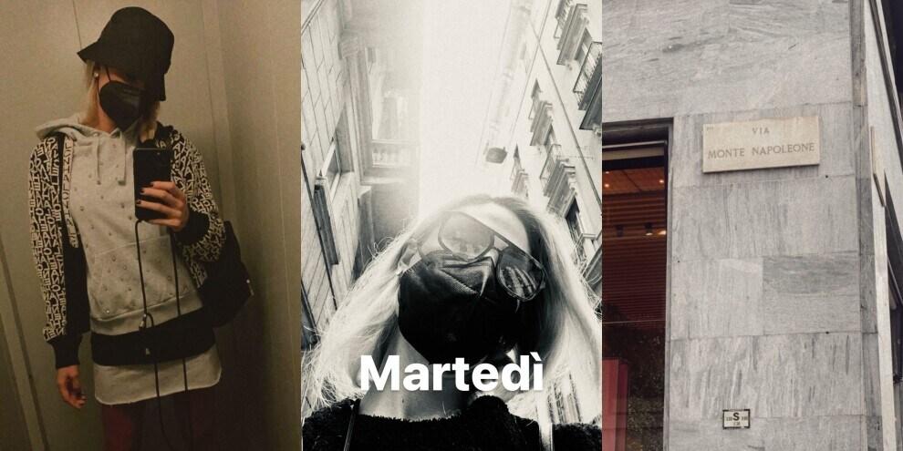 Ilary Blasi a spasso per Milano