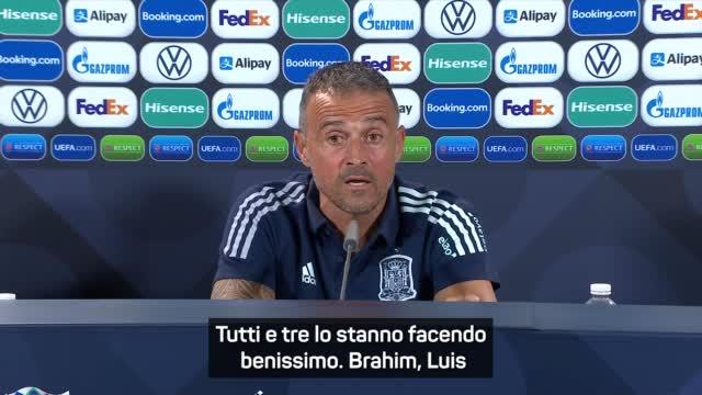 """Luis Enrique su Brahim Diaz, Luis Alberto e Fabian Ruiz: """"Porta aperta per loro"""""""