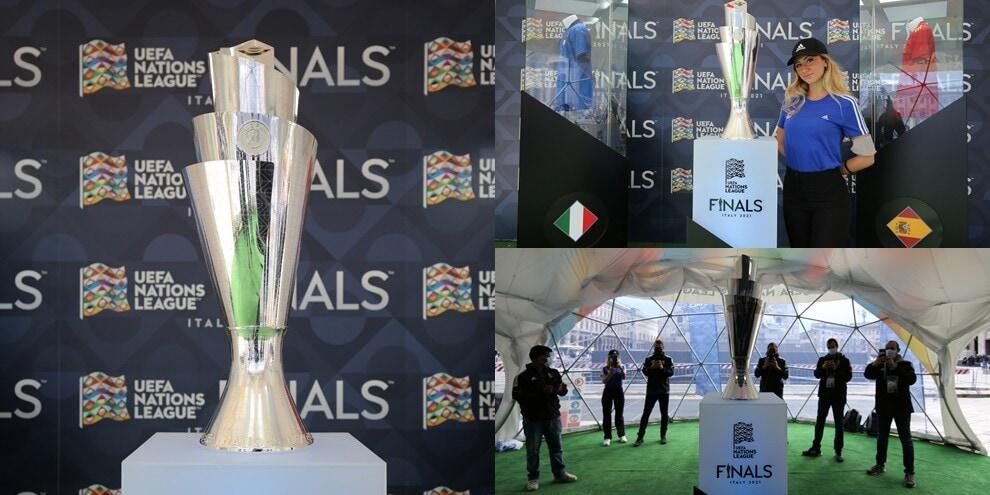 Nations League, il trofeo è stato esposto a Milano