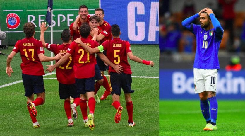 Festa Spagna a San Siro: Italia ko dopo 37 gare da imbattuta
