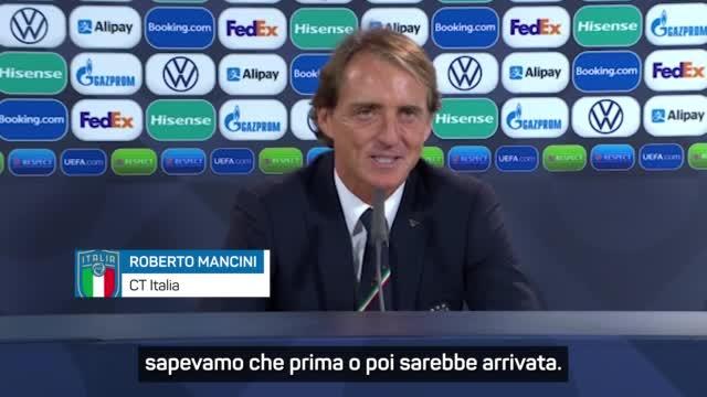 """Mancini: """"La sconfitta? Meglio stasera che in finale agli Europei o ai Mondiali"""""""