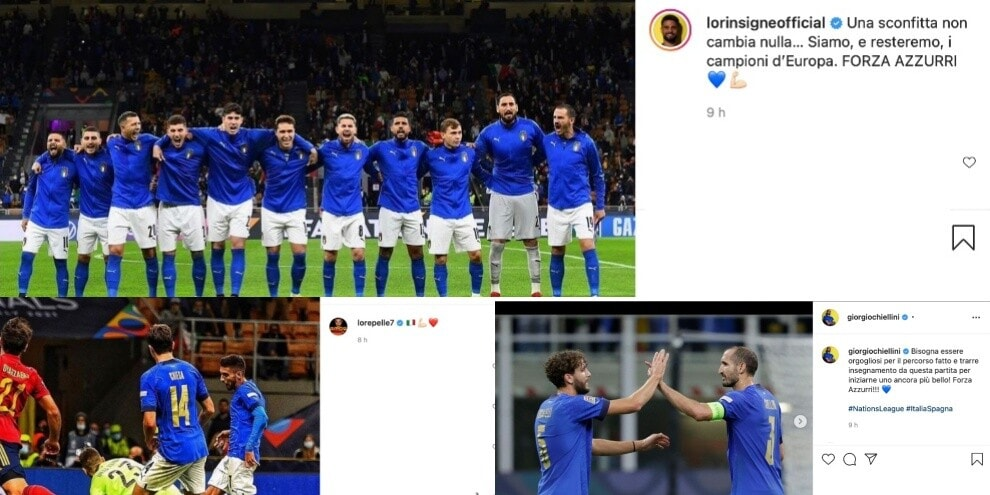 Italia, da Insigne a Pellegrini: le reazioni social dopo il ko contro la Spagna
