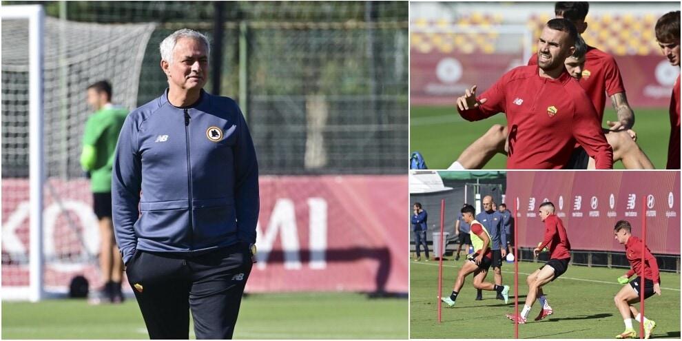 Roma, Mourinho senza i nazionali: ultimo allenamento della settimana