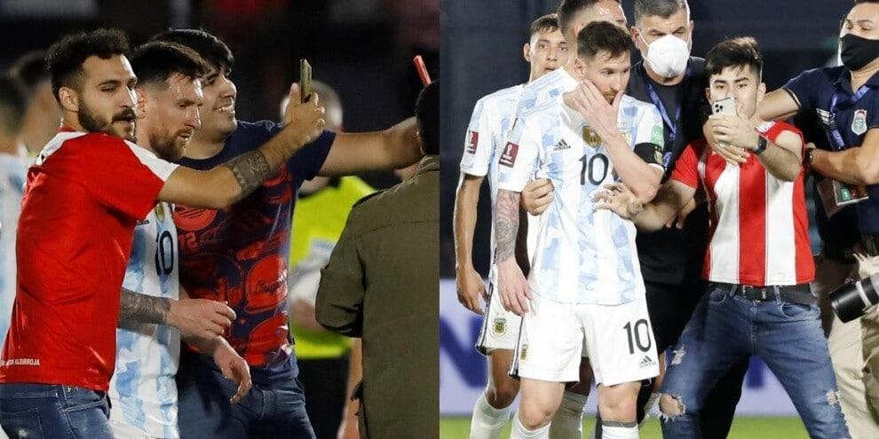 Paraguay-Argentina, invasione di campo per un selfie con Messi