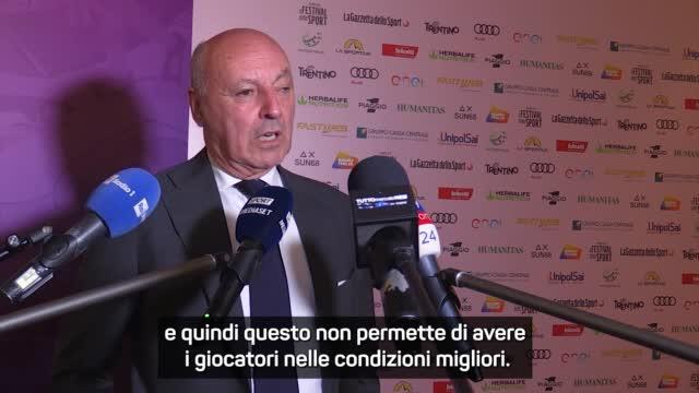 """Marotta ammonisce la Lega: """"Contro la Lazio gara sarà condizionata"""""""