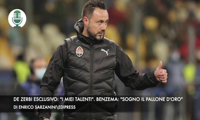 """De Zerbi esclusivo: """"I miei talenti"""". Benzema: """"Sogno il pallone d'oro"""""""