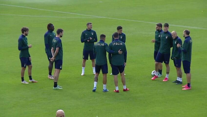 La nazionale si allena per affrontare il Belgio