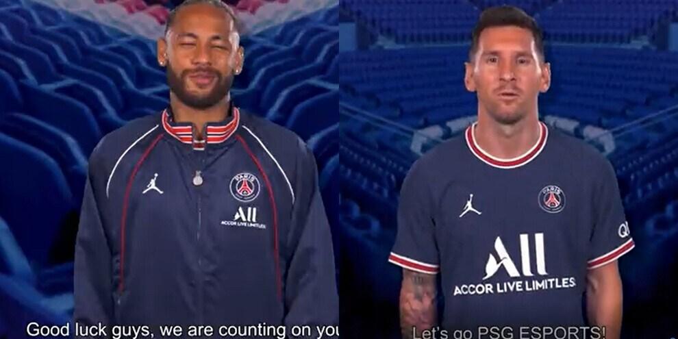 Messi e Neymar: auguri speciali al PSG per l'esordio a LOL