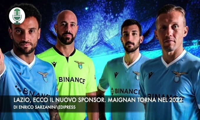 Lazio, ecco il nuovo sponsor. Milan, Maignan torna nel 2022