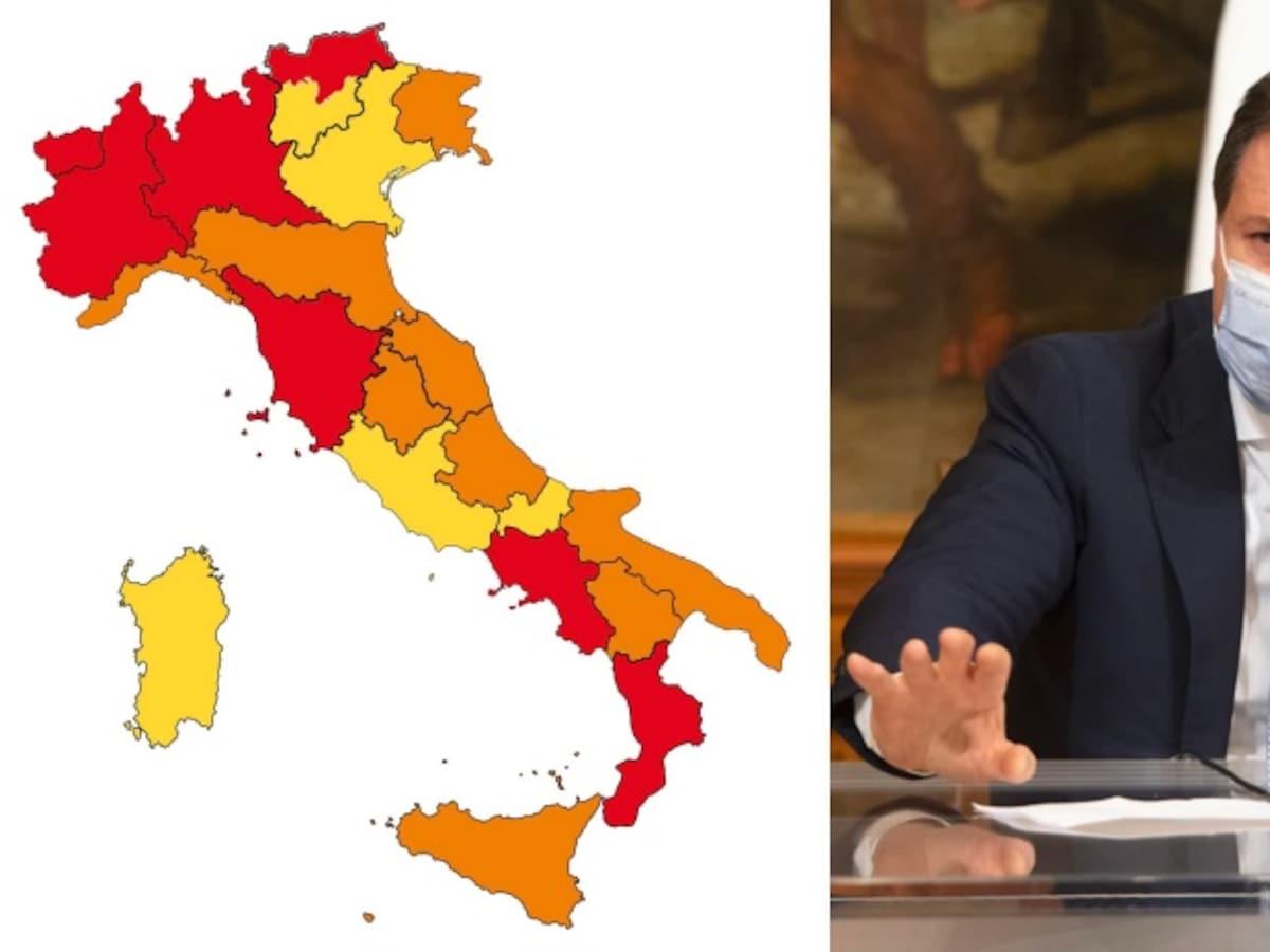 Cartina Italia Politica A Colori.Covid La Nuova Mappa Dell Italia Chi Entra E Chi Esce Dalla Zona Rossa