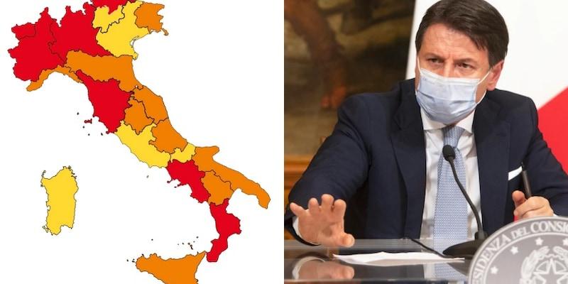 Cartina Italia Nel 400.Covid La Nuova Mappa Dell Italia Chi Entra E Chi Esce Dalla Zona Rossa