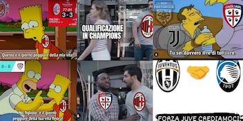 "<span style=""color: rgb(153, 0, 0);"">FOTO</span> Il Milan frena e la Juve accorcia: sui social partono le ironie"