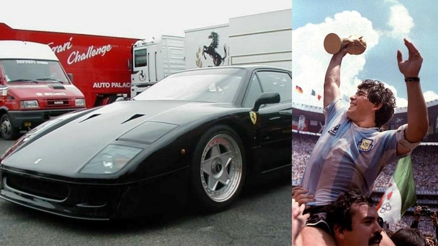 Maradona E Il Mistero Della Ferrari Nera F40 O Testarossa