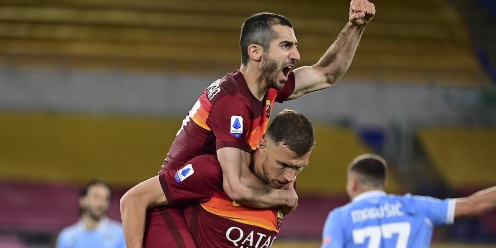 Mkhitaryan dopo l'assist di Dzeko: è 1-0!