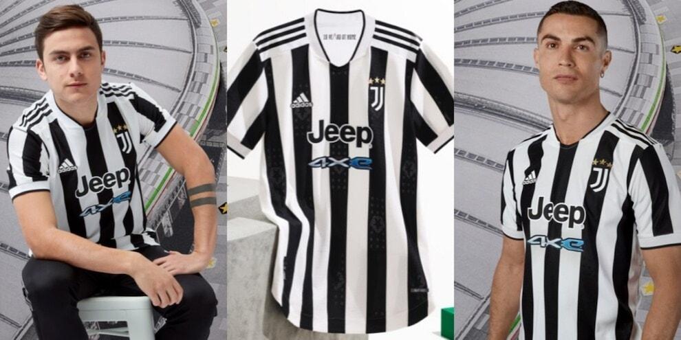 Juve, ecco la nuova maglia 2021-2022: subito l'esordio