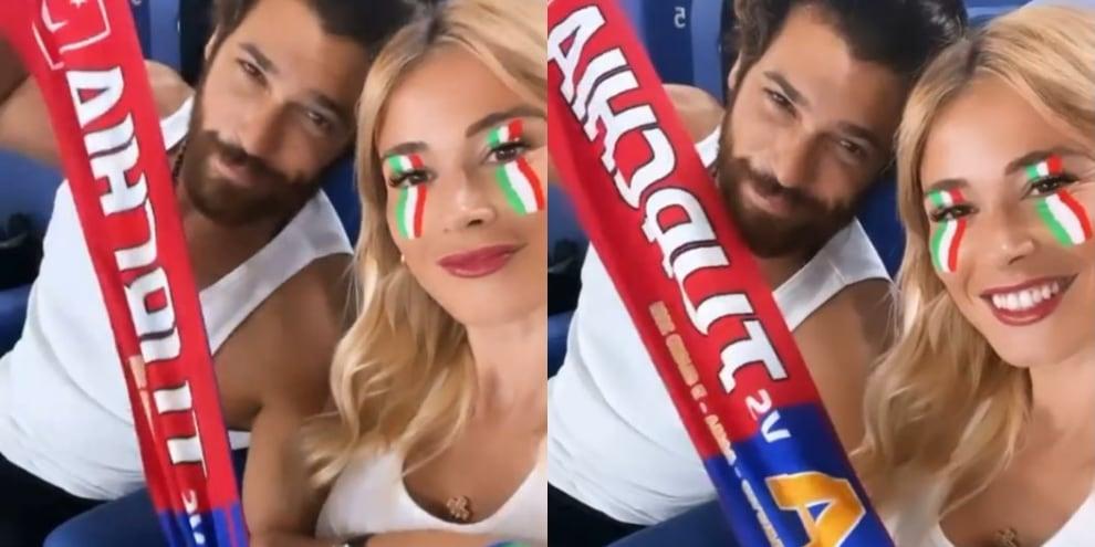 Η Diletta Leotta και ο Can Yaman, πανηγυρίζουν στο «ντέρμπι» Ιταλίας-Τουρκίας!