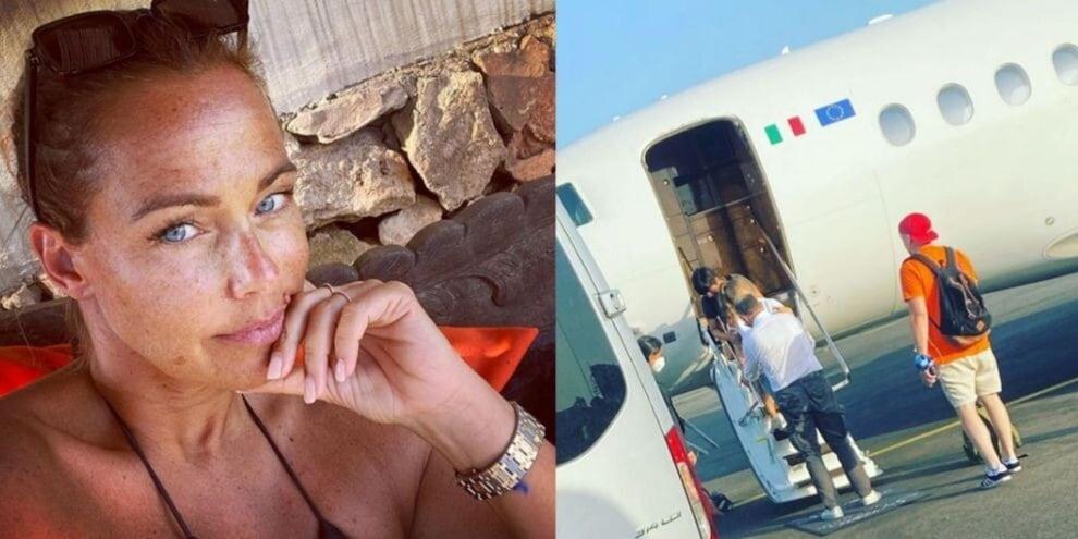 Sonia Bruganelli, la foto della figlia malata sul jet: haters zittiti